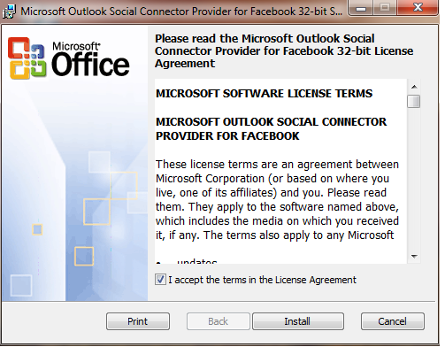 outlook social connector 2010 download 32 bit