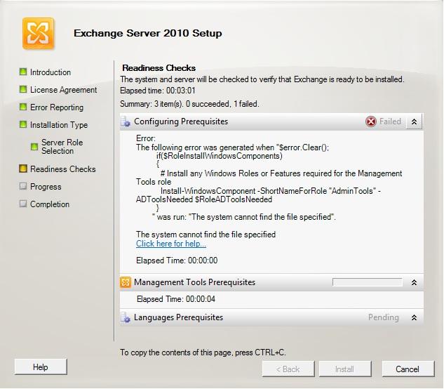 "Error ""Install-WindowsComponent –ShortNameForRole"